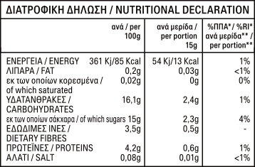 Tomato Paste Double Concentrated (28-30%): nutritional value